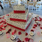 Northern Delights' Deb Cannon created this custom designed wedding cake for one of her northern Michigan customers.